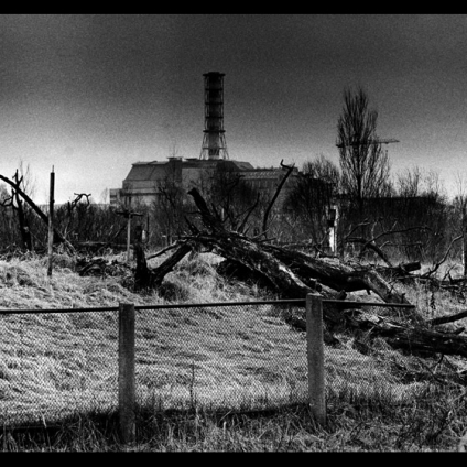 Reactor number four as seen from the old cemetery Chernobyl, Exclusion Zone (Ukraine)