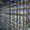 The mohair arrives on cones from the spinning mills. These bobbins then get transferred (warped) onto a loom beam