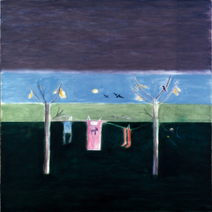 Winter Washing Line, Montecastelli, 2000, oil on canvas