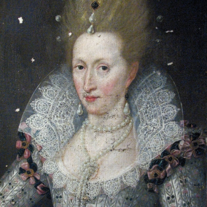 Queen Anne of Denmark s portrait attributed to Mathias van Somer (1576-1621) - after cleaning and relining