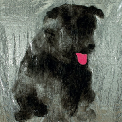 Dog Painting, 2010, acrylic on glame