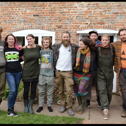 Founding members of the Hempen Cooperative - left to right : Joe, Debs, Eve, Theo, Dima, Sophie, Paddy, Surge, Rowan